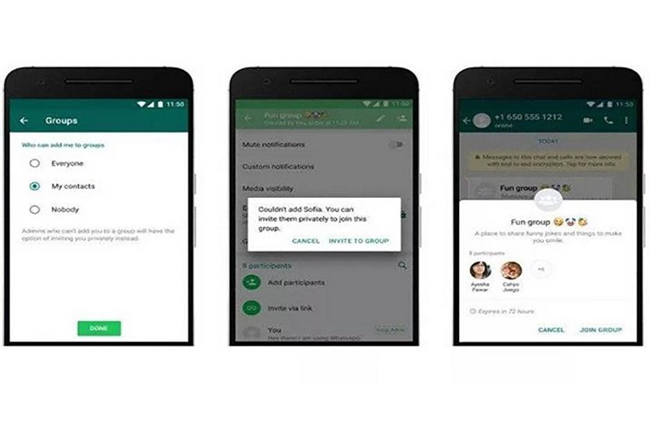 WhatsApp muda e usuário decidirá se entra em grupos